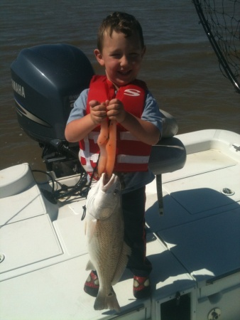 bentley with his big fish