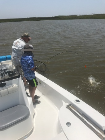 issac fighting one of his redfish